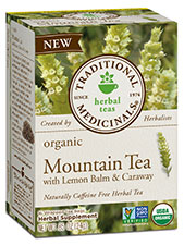 Organic Mountain Tea With Lemon Balm & Caraway