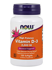 High Potency Vitamin D-3 2,000 IU 50 mcg