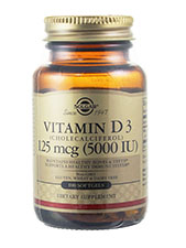 Vitamin D3 (Cholecalciferol) 125 mcg (5000 IU)
