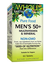 Pure Food Men's 50+ Multivitamin and Mineral