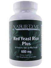 Red Yeast Rice Plus W/ CoQ10. NAC & Milk Thistle