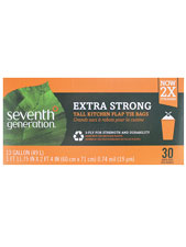Extra Strong Tall Kitchen 3-Ply Flap Tie Bags