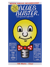 Full Spectrum Clear Light Bulb - 100 Watts