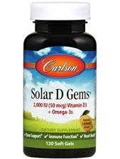 Solar D Gems Vitamin D3 2,000 IU