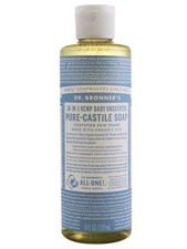 18-in-1 Hemp Baby Unscented Pure-Castile Soap