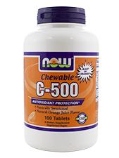 Chewable C-500 - Natural Orange Juice Flavor 500 mg