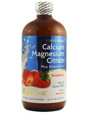Liquid Calcium Magnesium Citrate Strawberry Flavor
