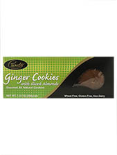 Ginger with Sliced Almonds All Natural Cookies
