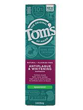 Antiplaque & Whitening Fluoride-Free Toothpaste - Spearmint