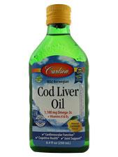 Wild Norwegian Cod Liver Oil Natural Lemon Flavor