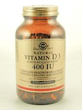 Natural Vitamin D3 (Cholecalciferol) 400 IU