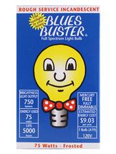 Full Spectrum Frosted Light Bulb - 75 Watts