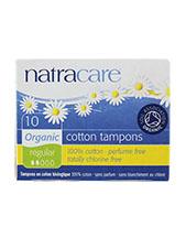 Organic All Cotton Tampons - Regular No Applicator