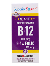 No Shot Methylcobalamin B-12 B-6 & Folic