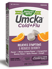 Umcka Cold+Flu Chewable Tablets - Orange Flavor