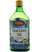 Wild Norwegian Cod Liver Oil Natural Lemon Flavor