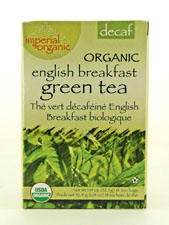 Decaf Organic English Breakfast Green Tea