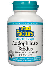 Double Strength Acidophilus & Bifidus 10 Billion Cells