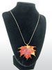 Maple Lace Leaf Necklace-Iridescent Copper Finish