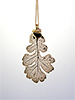 Oak Lace Leaf Necklace - 24K Gold Finish