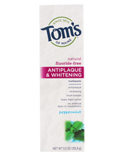 Antiplaque & Whitening Fluoride-Free Toothpaste - Peppermint