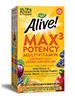 Alive! Max 3 Potency Multi-Vitamin No Iron Added