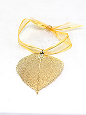 Aspen Lace Leaf Ornament - 24K Gold Finish
