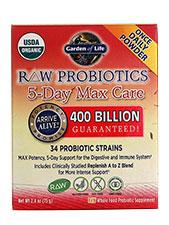 Raw Probiotics 5 Day Max Care Powder