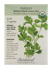 Parsley Italian Dark Green Flat Organic