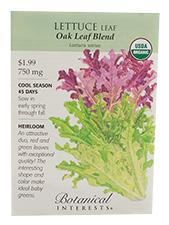 Lettuce Leaf Oak Leaf Blend Organic