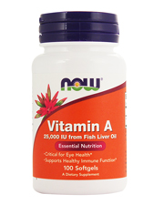 Vitamin A  25,000 IU from Fish Liver Oil