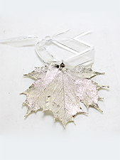 Maple Leaf Ornament - Silver Finish