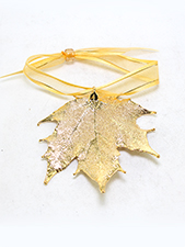 Maple Lace Leaf Ornament - 24K Gold Finish