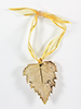 Birch Lace Leaf Ornament - 24k Gold Finish