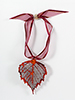 Birch Lace Leaf Ornament - Iridescent Copper