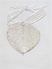 Aspen Lace Leaf Ornament - Silver