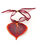 Aspen Lace Leaf Ornament - Iridescent Copper