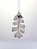 Oak Lace Leaf Necklace - Silver Finish