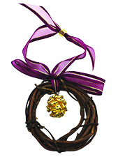 Redwood Cone Wreath Ornament