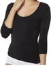 Organic Bamboo Scoop Top - Black