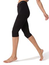 Organic Bamboo Crop Length Legging - Black