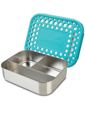 Trio Dots Stainless Steel Divided Container