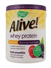 Alive! Whey Protein Fruit Smoothie - Berry Crème Flavored