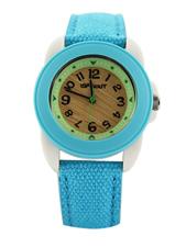 Small Tan & Blue Face Blue Cloth Wristband
