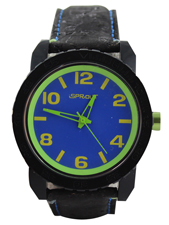 Blue & Green Face with Black Band