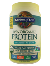 RAW Organic Protein - Unflavored - No Stevia