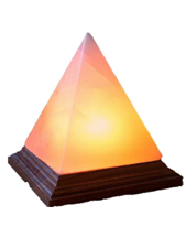 Pyramid Shaped Crafted Salt Lamp