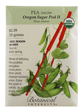 Organic Snow Pea Oregon Sugar Pod II