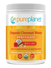 Organic Coconut Water Rehydrate Hibiscus Ginger