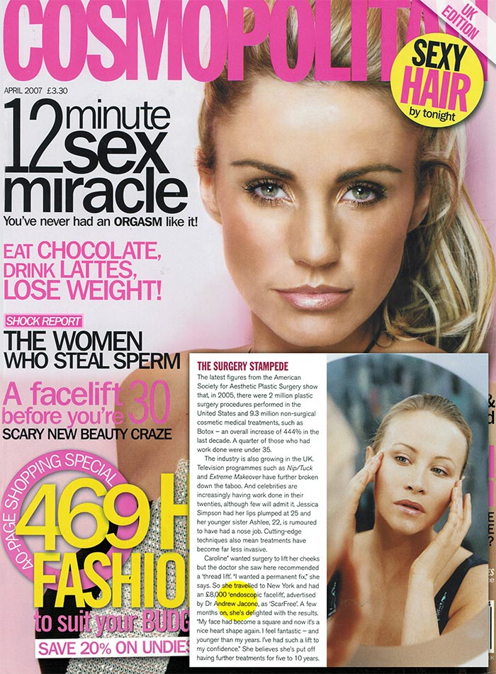 Cosmopolitan UK Edition - Scar Free Facelift